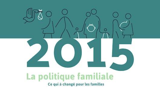Infographie : la politique familiale en 2015