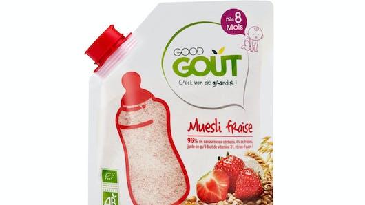 Le muesli fraise de GOOD GOÛT