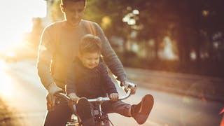 papa à vélo