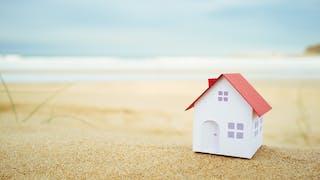 concept maison miniature plage