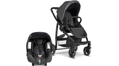 Poussette Duo Evo de Graco et siège-coque Junior Baby 0+