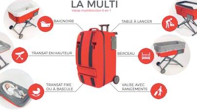 La Multi, une valise 6 en 1 qui se transforme en berceau primée au concours Lépine