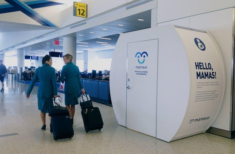 Mamava cabines d'allaitement à l'aéroport