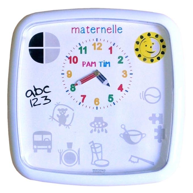 horloge maternelle Pam Tim