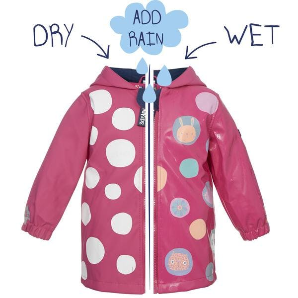 manteau de pluie Squidkids fille rose