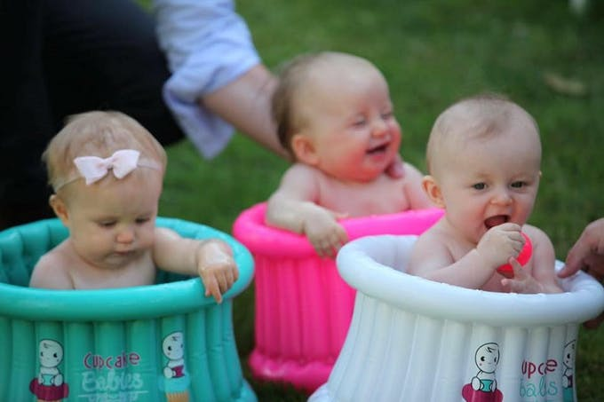 Baignoire gonflable Cupcake Babies