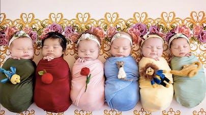 Photos : 6 bébés transformés en princesses Disney