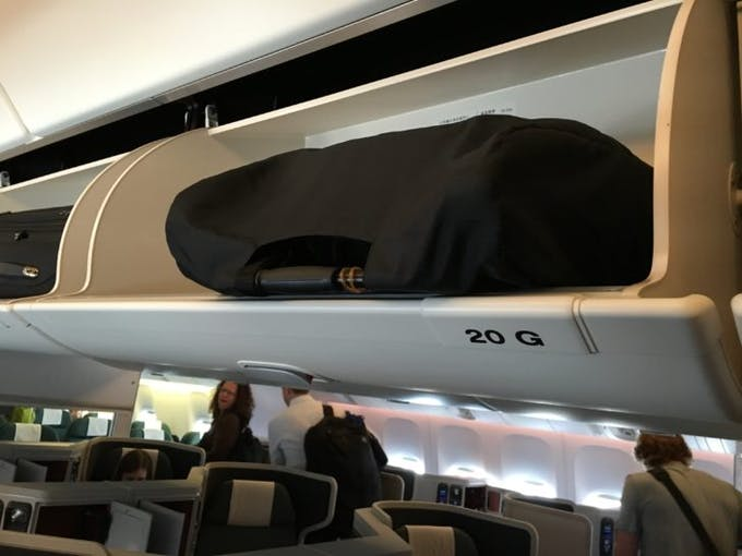 Poussette Nano V2 de Mountain Buggy - bagage cabine avion rangée sac transport