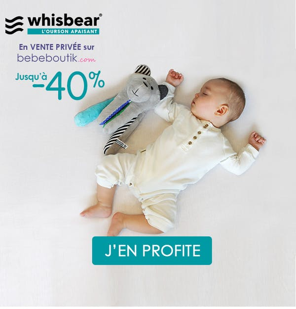 - 40% de réduction sur la marque Whisbear
