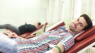 transfusion sanguine  chez un homme