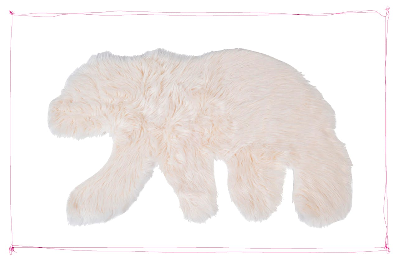 tapis en forme d'ours