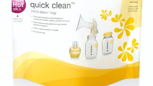 Sachets de désinfection Quick Clean de MEDELA