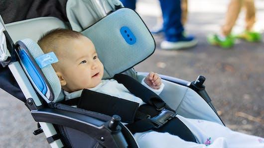 Brizi, un prototype de coussin anti-pollution pour les nourrissons.
