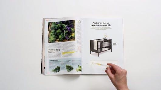 Ikea : une pub sous forme de test de grossesse fait le buzz (vidéo)