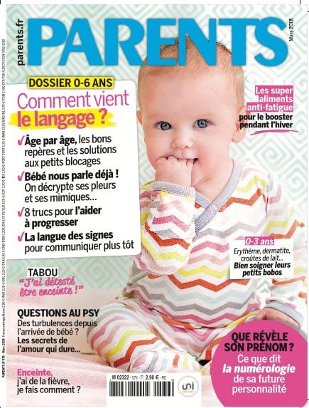 couverture magazine Parents mars