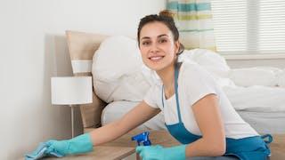 femme faisantle ménage