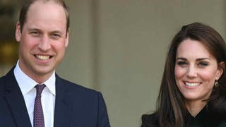 Kate et William sourient. Ils sont heureux de la future naissance de leur troisième bébé