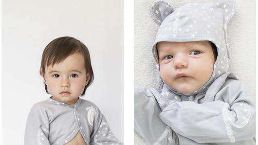 Eczéma, varicelle: un pyjama avec moufles intégrées pour ne pas se gratter