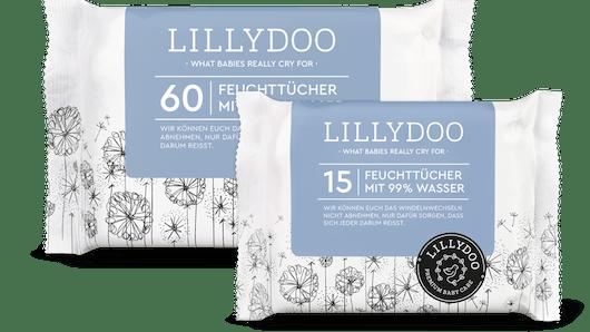 Les Lingettes faites à 99% d'eau de LILLYDOO