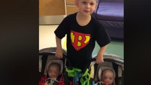 A 4 ans, il sauve ses petits frères grâce à un don de moelle osseuse
