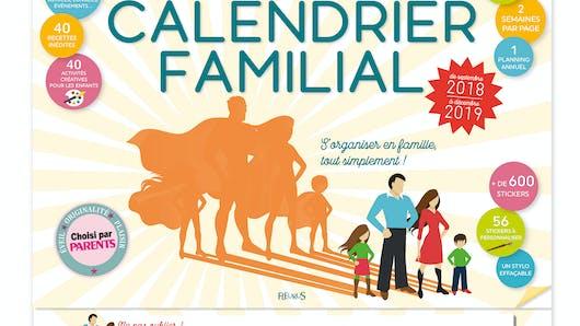 Le Grand Calendrier Familial 2018-2019 de FLEURUS