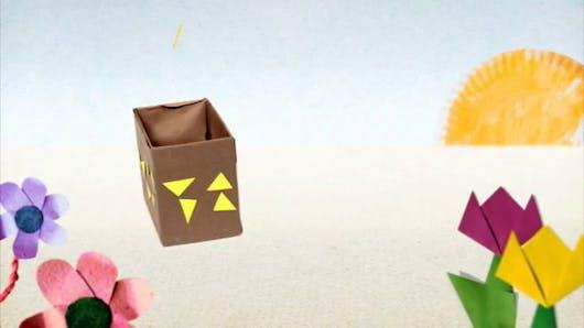Vidéo mini atelier Tiji : la tirelire robot