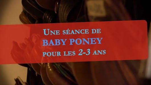 Une séance de baby-poney pour les 2-3 ans