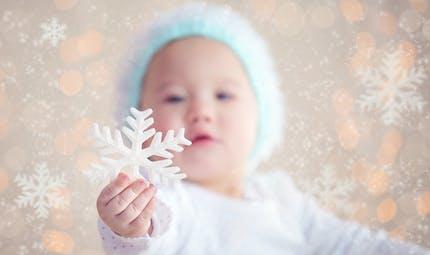 Quand bébé découvre la neige