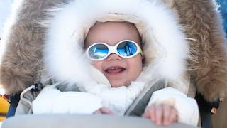 A la montagne : protection totale des enfants