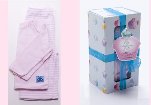 Gâteaux de pyjama rose