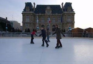 Patinoire écolo en plein air de Versailles
