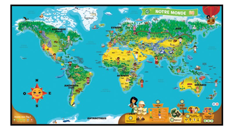Mappemonde interactive tag