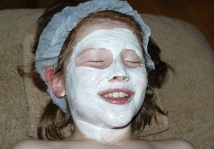 Pose du masque au kaolin