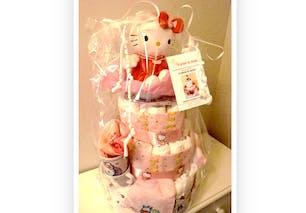 Gâteau de couches Hello Kitty