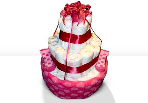 Gâteau de couches à pois