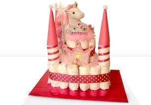 Gâteau de couches château de princesse