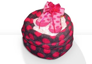 Mini gâteau de couches à pois