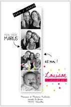Faire-part photomaton