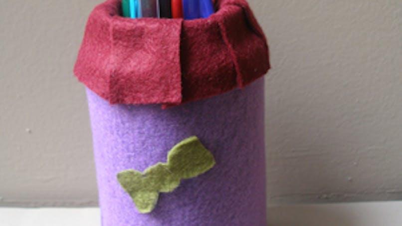 Pot à crayons molletonné