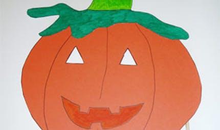 Un masque de citrouille pour Halloween ! (diaporama)