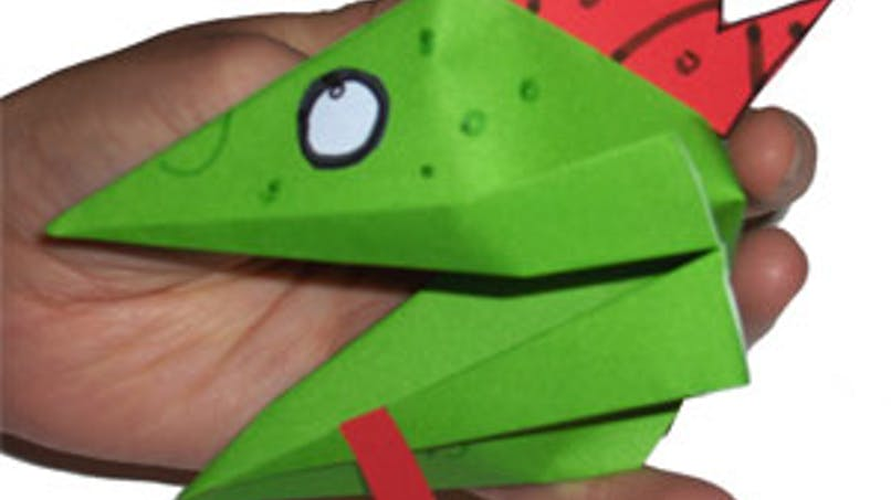 Tête de dragon en origamie