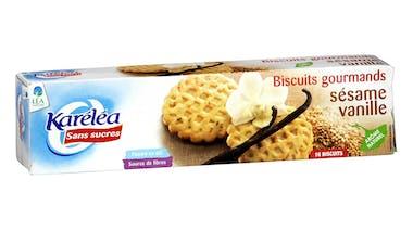 Biscuits sésame-vanille sans sucre de Karéléa