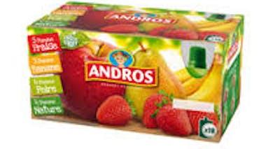 Compotes de fruits panachés Andros