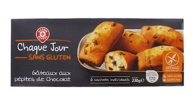Madeleines pépites de chocolat « Marque Repère »       (Leclerc)