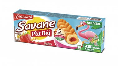 Savane P'tit Dej' Fraise en format Pocket,       Brossard