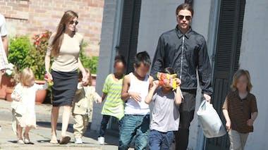 Maddox, Pax, Zahara, Shiloh, Vivienne et Knox, les       enfants d'Angelina Jolie et Brad Pitt