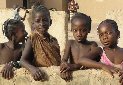 Cécile, 8 ans, et ses amies