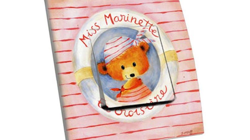 Interrupteur décoratif « Miss Marinette »