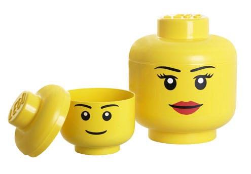 Têtes de rangement Lego