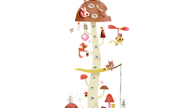 Toise adhésive « La maison champignon »
